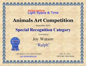 Artist Joy Watson Receives Special Recognition Award
